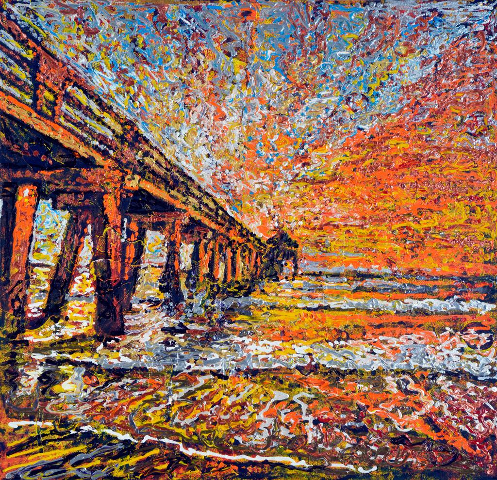Sundrenched Pier - Giovanni DeCunto - Boston Artist