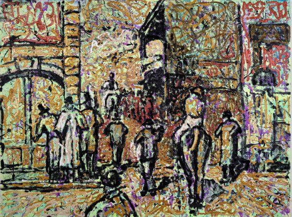 La sortie de Pesage - by E.Degas